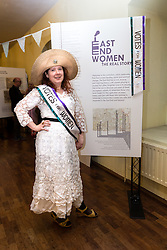 © Licensed to London News Pictures. 26/05/2016. LONDON, UK.  Feminist activist and organiser of the first Jack the Ripper museum protest, JEMIMA BROADBRIDGE attends the launch of 'East End Women: The Real Story' exhibition at St George-in-the-East church in Shadwell. The exhibition is a response by the East End Women's Collective and 38 Degrees following a series of protests against the nearby controversial Jack the Ripper museum, which had promised to celebrate east end women, but activists opposed and claimed glorified violence against women. A number of feminist groups and activists are still campaigning to get the  Jack the Ripper museum closed. The exhibition runs until 9th July 2016.  Photo credit: Vickie Flores/LNP