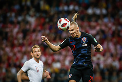 July 11, 2018 - Moscow, Vazio, Russia - Domagoj Vida of Croatia during the match between England and Croatia valid for the semi final of the 2018 World Cup, held at the Lujniki Stadium in Moscow, Russia. Croatia wins 2-1. (Credit Image: © Thiago Bernardes/Pacific Press via ZUMA Wire)