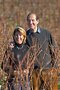 Jan and Caryl Panman Chateau Rives-Blanques. Limoux. Languedoc. Owner winemaker. France. Europe. Vineyard.
