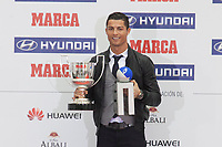 Real Madrid´s Cristiano Ronaldo receives Pichichi Award during the MARCA Football Awards ceremony in Madrid, Spain. November 10, 2014. (ALTERPHOTOS/Victor Blanco)