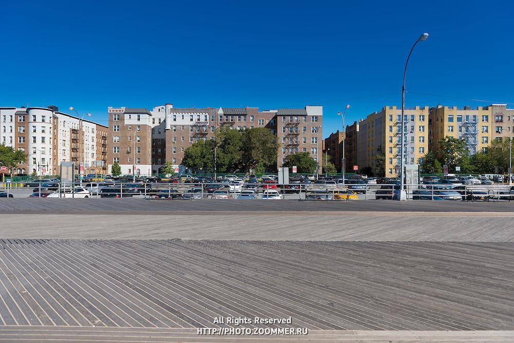Boardwalk from Coney island to Brighton beach, Brooklyn, New York