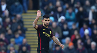 Football - 2016/2017 Premier League - Burnley vs Manchester City <br /> <br /> Sergio Aguero of Manchester City waves during the match at Turf Moor <br /> <br /> COLORSPORT/LYNNE CAMERON