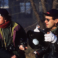 Bang Bang Club:  Joao Silva, right, and photographer Gary Bernard in SEbokenmg township, 1992. (Photo: Greg Marinovich)