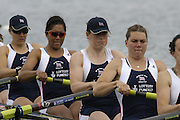 Munich, GERMANY, 2006, FISA, Rowing, World Cup, GBR W8+ Bow baz Moffat, 2. Jessica Eddie, 3. Vicki Etiebet. 4. Carla Ashford, 5. Natasha Howard. 6. Natash page, 7 Katie Greves and Elise Laverick, cox Caroline O'Conner.  held on the Olympic Regatta Course, Munich, Thurs. 25.05.2006. © Peter Spurrier/Intersport-images.com,  / Mobile +44 [0] 7973 819 551 / email images@intersport-images.com..[Mandatory Credit, Peter Spurier/ Intersport Images] Rowing Course, Olympic Regatta Rowing Course, Munich, GERMANY
