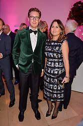 ALEXANDRA SHULMAN and Nicholas Cullinan at the Alexandra Shulman and Leon Max hosted opening of Vogue 100: A Century of Style at The National Portrait Gallery, London on 9th February 2016.