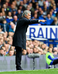Chelsea Manager, Jose Mourinho points - Mandatory byline: Matt McNulty/JMP - 07966386802 - 12/09/2015 - FOOTBALL - Goodison Park -Everton,England - Everton v Chelsea - Barclays Premier League