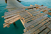 Santa Maria, Sal, the Cape Verde Islands.  The Town dock has weather many years and storms.