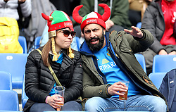 Italy fans in the stands during the NatWest 6 Nations match at the Stadio Olimpico, Rome.