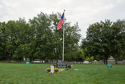 """26 August 2017:   A part of the History of McLean County Illinois.<br /> <br /> Tombstones in Evergreen Memorial Cemetery.  Civic leaders, soldiers, and other prominent people are featured.<br /> <br /> Section 22<br /> Joshua Rodgers grave stands in front of a memorial stone commemorating the display of the """"Wall"""" moving memorial which was on public display August 25, 2016.<br /> <br /> Joshua P Rodgers<br /> Sergeant US Army Airborne Rangers<br /> August 22, 1994<br /> April 27, 2017<br /> Bronze Star with Valor<br /> Purple Heart<br /> <br /> Joshua was killed in Action in Nangarhar Province, Afghanistan, as a result of small arms fire while engaged in dismounted operations. Joshua was assigned to 3rd Battalion, 75th Ranger Regiment, Fort Benning, Georgia."""