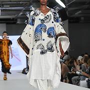Designer Evelyne Babin at the Best of Graduate Fashion Week showcases at the Graduate Fashion Week 2018, June 6 2018 at Truman Brewery, London, UK.