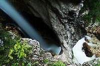 Waterfall at river Moznica, Moznica valley<br /> Triglav National Park, Slovenia<br /> July 2009