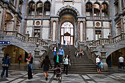 Inside the renewed entrance hall of the central train station, Antwerpen, Belgium