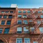 Brownstone house Manhattan, New York , USA