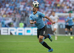 June 25, 2018 - Samara, Russia - Luis Suarez of Uruguay in action during the 2018 FIFA World Cup Russia group A match between Uruguay and Russia at Samara Arena on June 25, 2018 in Samara, Russia. (Credit Image: © Foto Olimpik/NurPhoto via ZUMA Press)