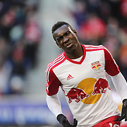 Lloyd Sam, New York Red Bulls, celebrates after scoring his sides second goal during the New York Red Bulls Vs D.C. United, Major League Soccer regular season opening match at Red Bull Arena, Harrison, New Jersey. USA. 22nd March 2015. Photo Tim Clayton