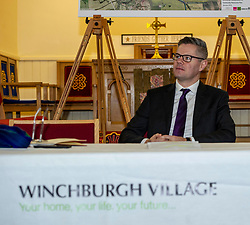Pictured: Derek Mackay<br /> <br /> Finance Secretary Derek Mackay headed to Winchburgh today to meet developers of new 3,450-home village. As well as the new homes, schools and other associated infrastructure will be built at Winchburgh. Derek Mackay met Sir Tom Hunter and Local MSP, Fiona Hyslop, the developers and West Lothian Council officials.<br /> Ger Harley | EEm 17 January 2019