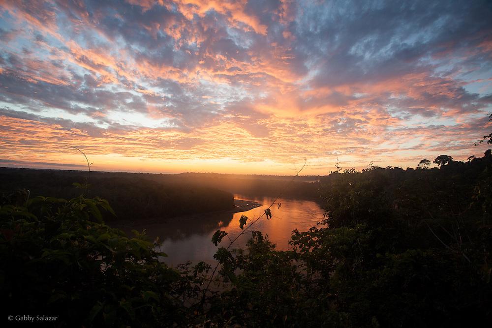 Los Amigos River in the Los Amigos Conservation Concession run by the Amazon Conservation Association and the Asociación para la Conservación de la Cuenca Amazónica. The concession is on the Rio Madre de Dios and the Rio Los Amigos. It protects lowland rainforest in the Los Amigos - Tambopata Conservation Corridor and has a biological research station called CICRA.