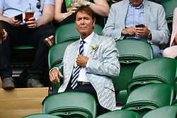 © Licensed to London News Pictures. 28/06/2016. SIR CLIFF RICHARD watches tennis in the centre court on the second day of the WIMBLEDON Lawn Tennis Championships in London, UK. Photo credit: Ray Tang/LNP