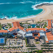 Aerial view of the Hilton Los Cabos hotel. BCS. Mexico.