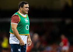 Jamie George of England during the pre match warm up<br /> <br /> Photographer Simon King/Replay Images<br /> <br /> Friendly - Wales v England - Saturday 17th August 2019 - Principality Stadium - Cardiff<br /> <br /> World Copyright © Replay Images . All rights reserved. info@replayimages.co.uk - http://replayimages.co.uk