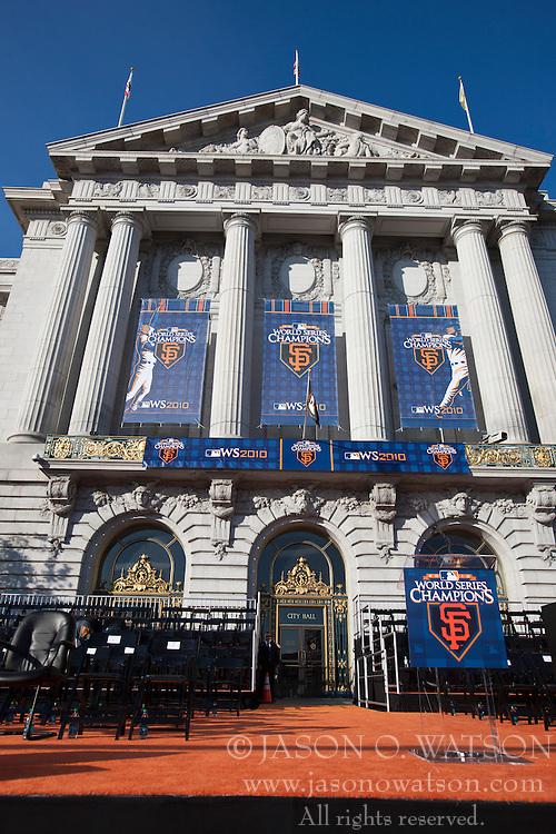 November 3, 2010; San Francisco, CA, USA;  San Francisco City Hall before the San Francisco Giants World Series victory parade.