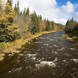 Indian Stream in Pittsburg, New Hampshire is one of the northernmost tributaries of the Connecticut River.  Fall.
