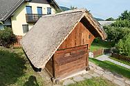 Janša beehive in Breznica, near Radovljica, Slovenia © Rudolf Abraham