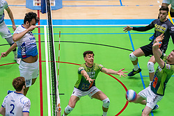 Hossein Ghanbari of Lycurgus, Markus Held of Orion in action during the league match between Active Living Orion vs. Amysoft Lycurgus on March 20, 2021 in Doetinchem.