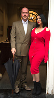 Jonathan Sothcott and Jeanine Nerissa Sothcot out and about in Shepherds Market Mayfair