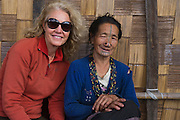 Apatani woman & Renee Bish<br /> Apatani Tribe<br /> Ziro Valley, Lower Subansiri District, Arunachal Pradesh<br /> North East India