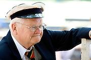 Officer in traditional uniform of Sweden. Svenskarnas Dag Swedish Heritage Day Minnehaha Park Minneapolis Minnesota USA