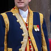 NLD/Amsterdam/201804245 - 20180424 koninklijke familie bij Corps Diplomatique diner 2018, uniform lakei