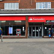 Santander close During the coronavirus in UK lockdown, at Walthamstow Market, London.