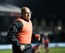 Ulster Rugby's Rory Best warms up<br /> <br /> Photographer Simon King/Replay Images<br /> <br /> Guinness Pro14 Round 10 - Dragons v Ulster - Friday 1st December 2017 - Rodney Parade - Newport<br /> <br /> World Copyright © 2017 Replay Images. All rights reserved. info@replayimages.co.uk - www.replayimages.co.uk