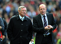 Alex Ferguson Manager walks out with Bolton Wanderers Manager Gary Megson<br /> Manchester United V Bolton Wanderers 17/10/09<br /> The Premier League<br /> <br /> Norway only