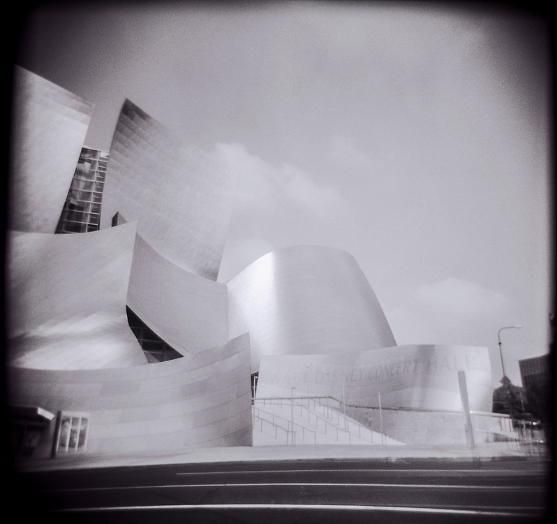 Walt Disney Music Hall in downtown Los Angeles, California.