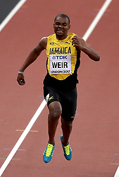 Jamaica's Warren Weir in action in the Men's 200m heats during day four of the 2017 IAAF World Championships at the London Stadium. PRESS ASSOCIATION Photo. Picture date: Monday August 7, 2017. See PA story ATHLETICS World. Photo credit should read: John Walton/PA Wire. RESTRICTIONS: Editorial use only. No transmission of sound or moving images and no video simulation