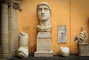 The broken statue of Roman Emperor Constantine in Rome's Capitoline museum