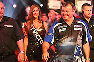 Terry Jenkins walk on during the First Round of the BetVictor World Matchplay Darts at the Empress Ballroom, Blackpool, United Kingdom on 19 July 2015. Photo by Shane Healey.