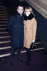 GABBY LOGAN and her husband rugby player KENNY LOGAN at the Cirque du Soleil's gala premier of Quidam held at the Royal Albert Hall, London on 6th January 2009