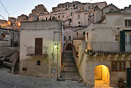 Dusk on the Sasso Barisano area, the name comes from its proximity to the city of Bari