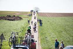 The early break rides the Amstel Gold Race - Ladies Edition - a 126.8 km road race, between Maastricht and Valkenburg on April 21, 2019, in Limburg, Netherlands. (Photo by Balint Hamvas/Velofocus.com)