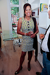 JENNIFER SPRING at a reception to celebrate the repairs on the Queen Elizabeth Gate in Hyde Park after it's successful repair following damaged sustained in a traffic accident in early 2010.  The party was held at 35 Sloane Gardens, London on 7th June 2010.