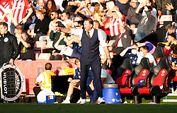 Southampton manager Ralph Hasenhuttl gestures on the touchline during the Premier League match at St. Mary's Stadium, Southampton. Picture date: Saturday October 16, 2021.