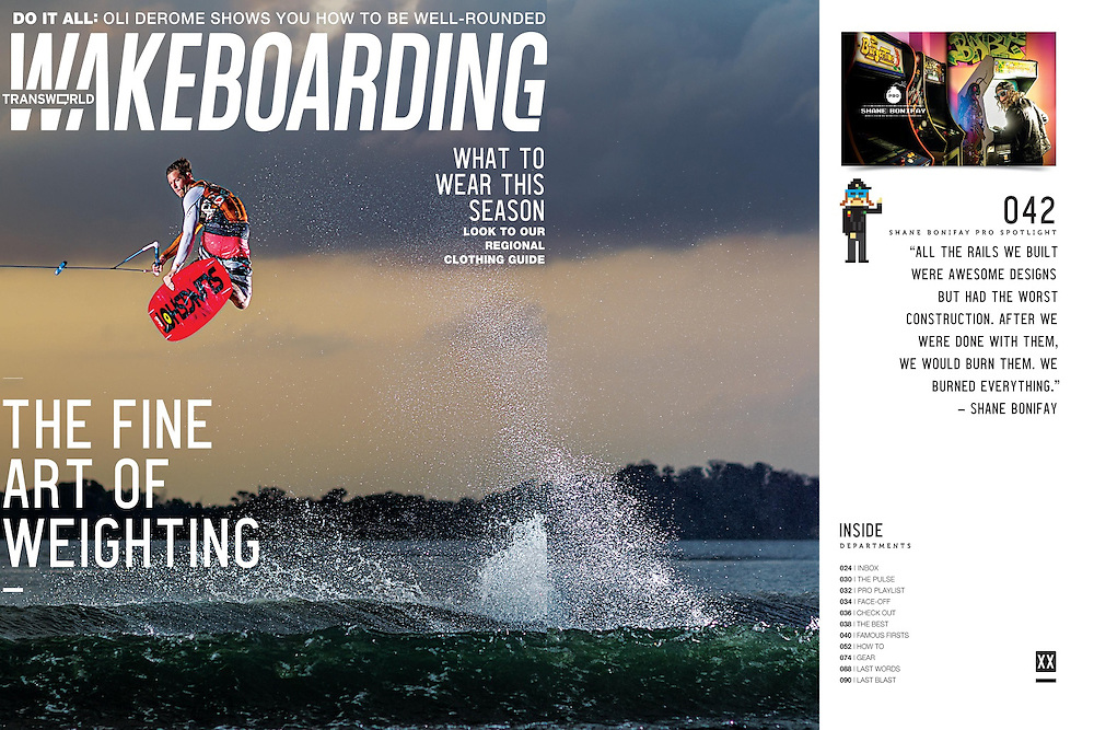 Jeff McKee on the cover of Transworld Wakeboarding.