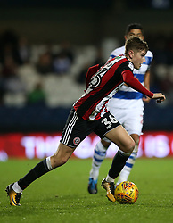 Sheffield United's David Brooks in action during the game during the Sky Bet Championship match at Loftus Road, London.
