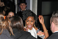 LONDON - FEBRUARY 13: Tallulah Adeyemi attends the public relations disaster that was the outside arrivals at the ELLE Style Awards at the Savoy Hotel, London, UK on February 13, 2012. (Photo by Richard Goldschmidt)