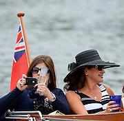 Henley on Thames. United Kingdom.  Water bourne spectators,  2013 Henley Royal Regatta, Henley Reach.  Wednesday  03/07/2013  [Mandatory Credit Peter Spurrier/ Intersport Images]