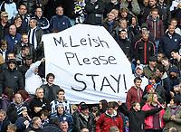 The Hawthorns West Bromwich Albion v Aston Villa (0-0)  28/04/2012<br />West Brom fans message for Aston Villa  and Alex McLeish<br />Photo: Roger Parker Fotosports International