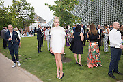 GABRIELLA CALTHORPE;  2016 SERPENTINE SUMMER FUNDRAISER PARTY CO-HOSTED BY TOMMY HILFIGER. Serpentine Pavilion, Designed by Bjarke Ingels (BIG), Kensington Gardens. London. 6 July 2016